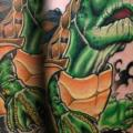 Arm Fantasie Schildkröte tattoo von Levy Hilton