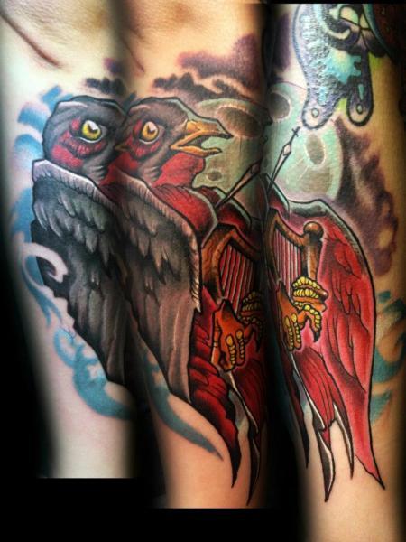 Fantasy Bird Tattoo by Levy Hilton