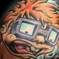 Hand Kinder Charakter tattoo von Levy Hilton