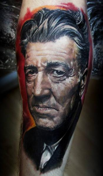 Arm Portrait Realistic Tattoo by Ivan Yug