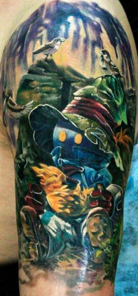 Tatuaggio Spalla Fantasy Burattino di Ivan Yug