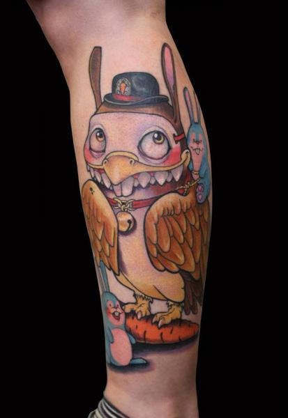 Arm Fantasy Owl Tattoo by Ed Perdomo