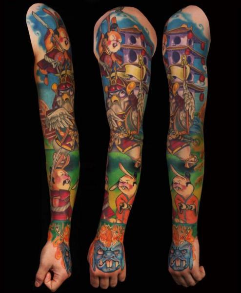 Fantasy Sleeve Tattoo by Ed Perdomo