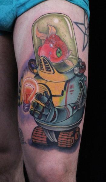 Tatuaggio Fantasy Robò di Ed Perdomo