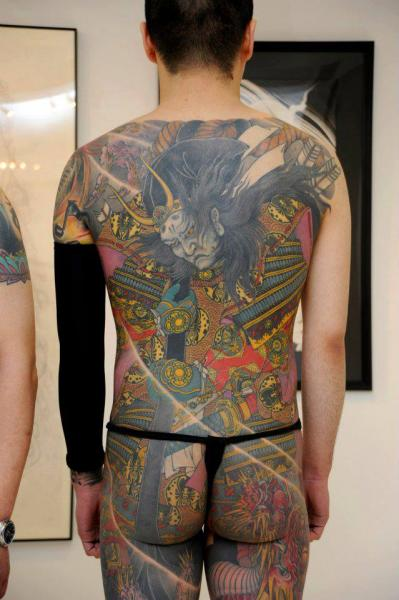 Japanese Back Samurai Butt Tattoo by Yellow Blaze Tattoo