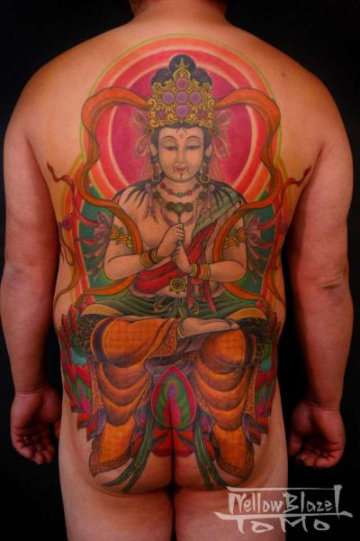 Japanese Buddha Back Butt Body Tattoo by Yellow Blaze Tattoo