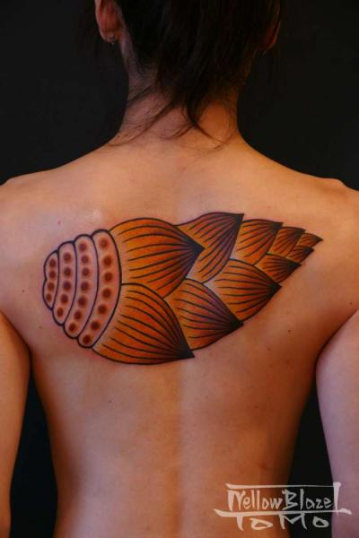 Japanese Back Shell Tattoo by Yellow Blaze Tattoo