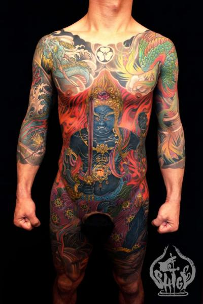 Tatuaggio Braccio Giapponesi Demoni di Yellow Blaze Tattoo