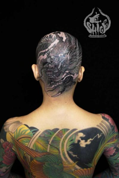 Japanese Head Dragon Tattoo by Yellow Blaze Tattoo