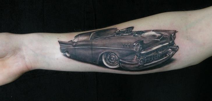 Arm Realistic Car Tattoo by Heidi Hay Tattoo