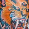 Arm New School Tiger tattoo von Da Vinci Tattoo
