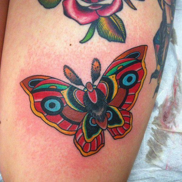 Arm Old School Butterfly Tattoo by Da Vinci Tattoo