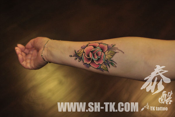 Arm Flower Tattoo by SH TH