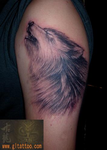 Shoulder Realistic Wolf Tattoo by GL Tattoo
