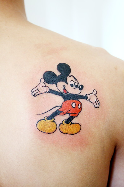Shoulder Fantasy Mickey Mouse Tattoo By Gz Tattoo