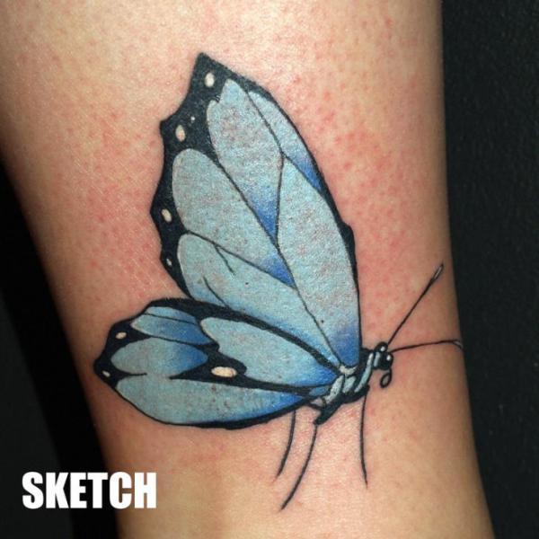 Arm Butterfly Tattoo by Attitude Tattoo Studio