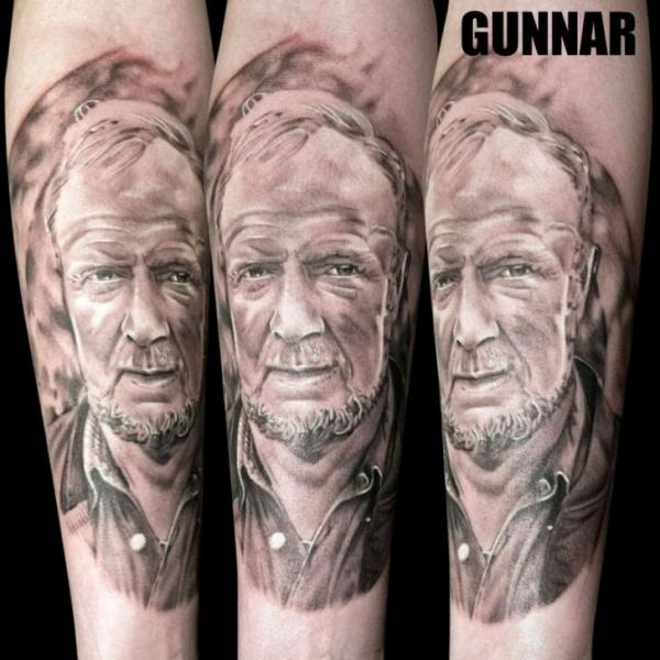 Arm Portrait Realistic Tattoo by Attitude Tattoo Studio