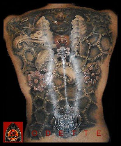 Fantasie Rücken Tattoo von 28 Tattoo