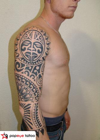 Tribal Tribal Maori Tattoo by Popeye Tattoo