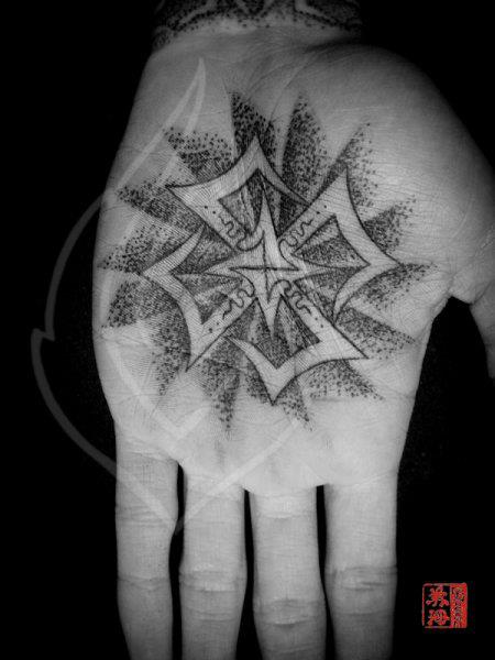 Hand Dotwork Tattoo by Ink Tank