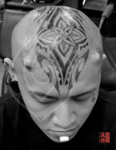 Tatuaje Tribal Cabeza Por Ink Tank