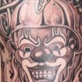 Shoulder Fantasy Lettering Clown tattoo by Ink Tank