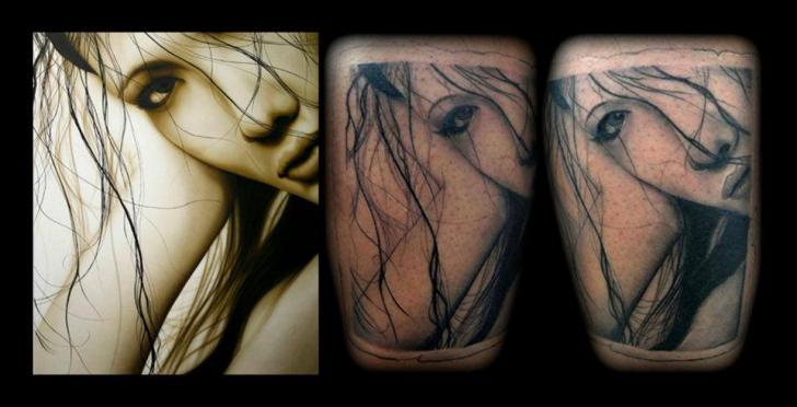 Portrait Realistic Tattoo by Black Rose Tattoo