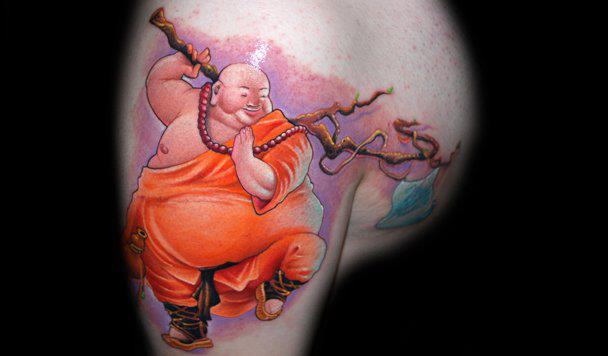 Schulter Fantasie Buddha Tattoo von Black Rose Tattoo