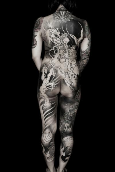 Japanese Back Body Tattoo by Shane Tan