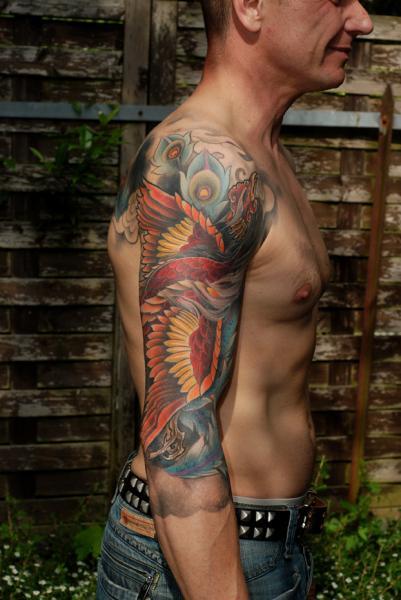 Schulter Arm Fantasie Phoenix Tattoo von Shane Tan