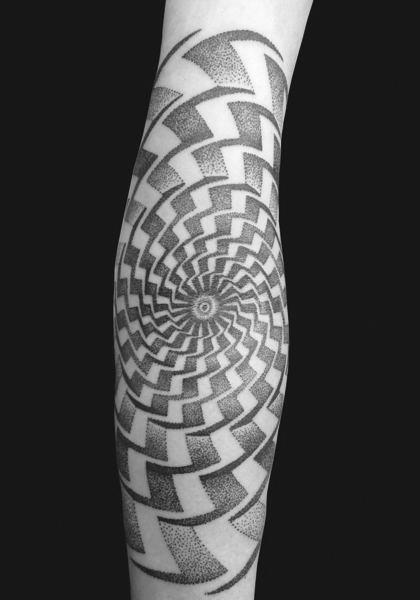 Arm Dotwork Tattoo by Mahakala Tattoo