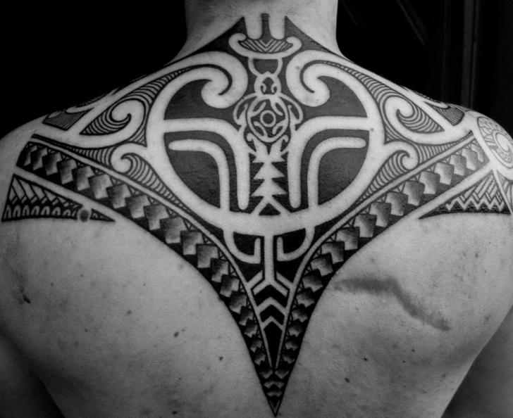 Back Tribal Neck Maori Tattoo by Mahakala Tattoo