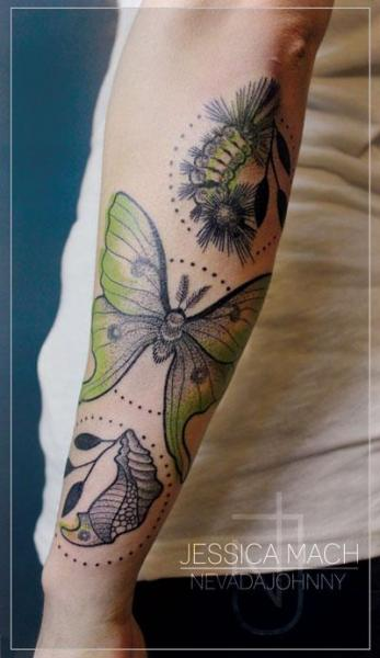 Arm Butterfly Tattoo by Jessica Mach