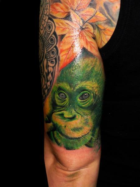 Arm Affe Tattoo von Csaba Kiss