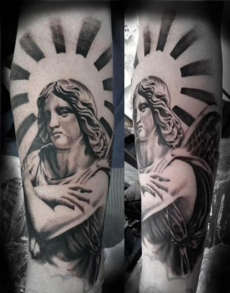 Arm Fantasy Angel Tattoo by Blue Lotus