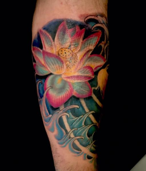 Arm Flower Tattoo by Blue Lotus