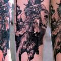 Arm Realistic Warrior Indian tattoo by Giahi