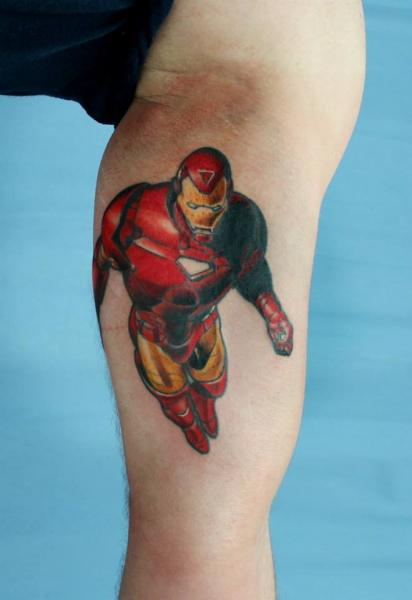 Arm Fantasy Ironman Tattoo by Skin Deep Art