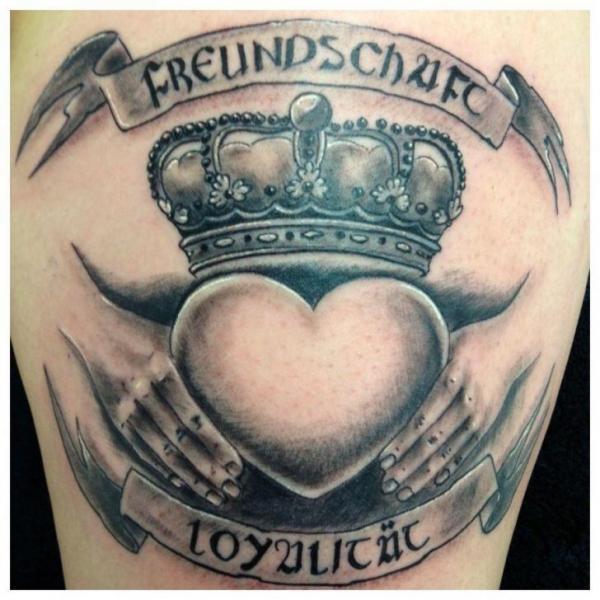 Arm Heart Crown Tattoo by Morbid Art Tattoo