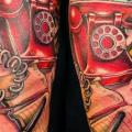 Arm Fantasy Telephone tattoo by Teresa Sharpe