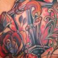 tatuaggio Fantasy Schiena Lampada Candela di Teresa Sharpe