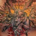 Fantasie Brust Hase tattoo von Teresa Sharpe
