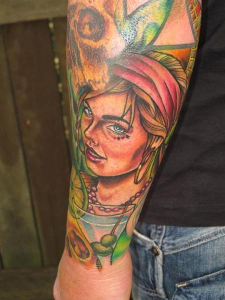 Arm Gypsy Tattoo by Sam Clark