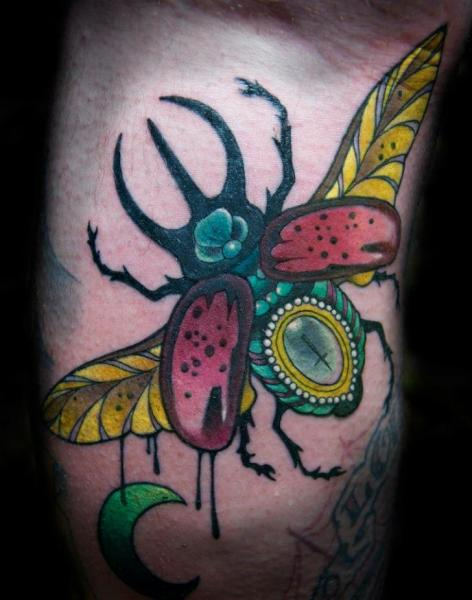 Fantasy Insect Tattoo by Sam Clark