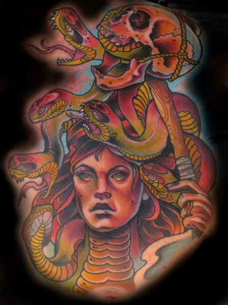 Fantasy Medusa Tattoo by Sam Clark