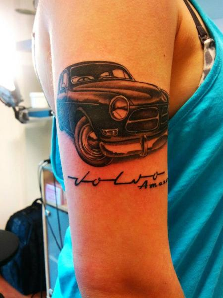 Arm Realistic Car Tattoo by Stay True Tattoo