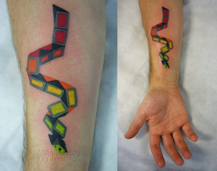 Arm Snake Abstract Tattoo by Sasha Unisex
