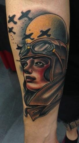 Arm Aviator Tattoo von Art Junkies Tattoos