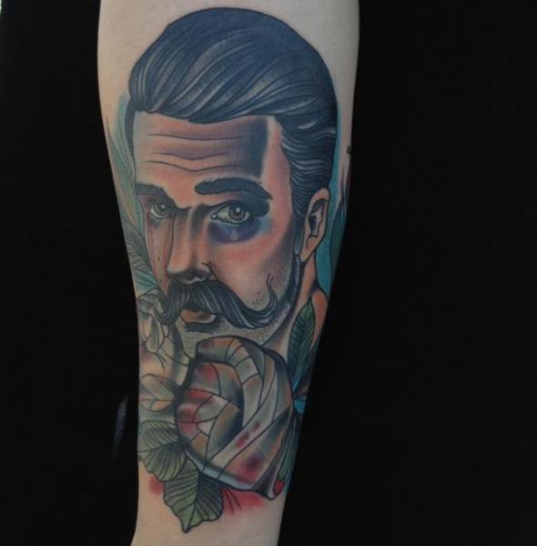 Arm New School Men Boxe Tattoo by Art Junkies Tattoos