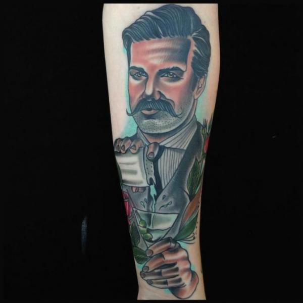 Arm Portrait Men Tattoo by Art Junkies Tattoos